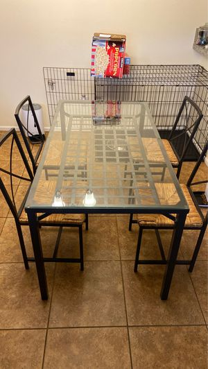Glass kitchen table for Sale in Bothell, WA