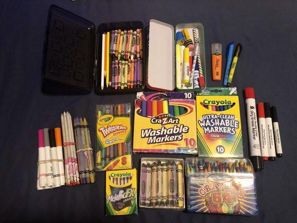 PENDING P/U - Bunch of art/school supplies - FREE