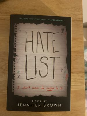 Hate List - by Jennifer Brown - Great Thriller Book - Must read - never used for Sale in Boston, MA