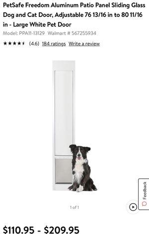 Petsafe patio sliding dog door for Sale in Phoenix, AZ