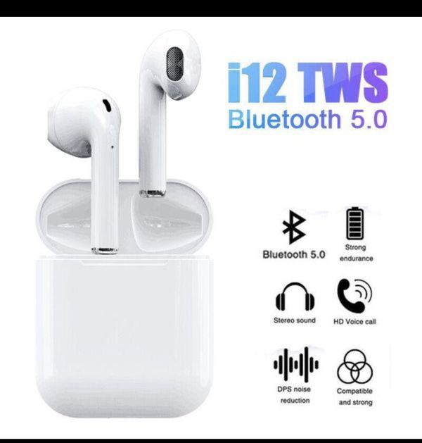 White Bluetooth Earphones