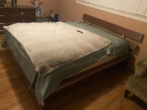 Queen size bed frame with dresser and night stands for Sale in Fullerton, CA