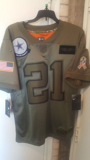 Dallas Cowboys NIKE SALUTE TO SERVICE MILITARY ELLIOTT JERSEYS SIZES SMALL MEDIUM LARGE XL AND 2XL AVAILABLE for Sale in Grand Prairie, TX