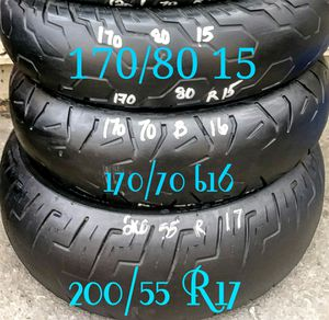 Good Motorcycle tires 4 sale for Sale in Denver, CO