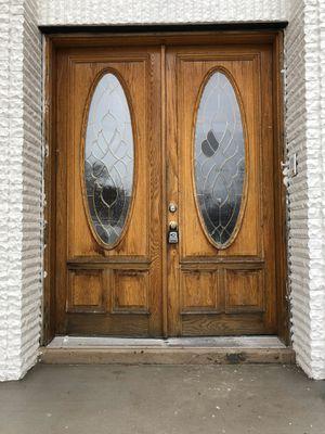 Front wooden Double Entry Door 6x8' Oak for Sale in Skokie, IL