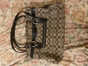Coach Handbag Penelope Shopper Brown Black Lightly Used for Sale in PA, US