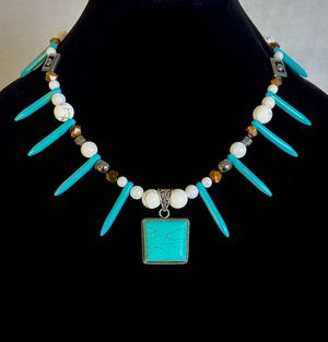 Turquoise Guardian Jewel Necklace for Sale in West Palm Beach, FL