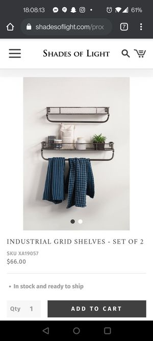 Industrial Grid Shelves from Shades of Light for Sale in Ronkonkoma, NY