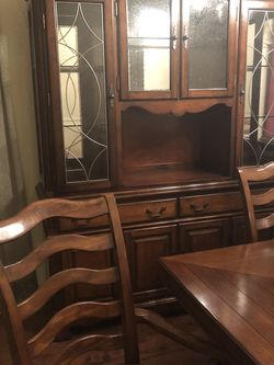 Dining Table And Chairs With China Hutch for Sale in Anaheim,  CA