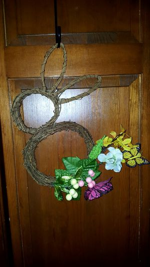Handcrafted Easter bunny wreath. See photos for dimensions. for Sale in Meriden, CT