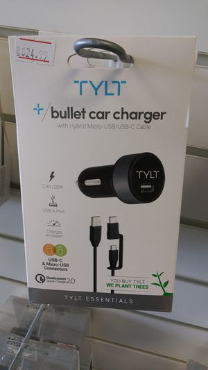 Tylt bullet car charger for Sale in Appleton, WI