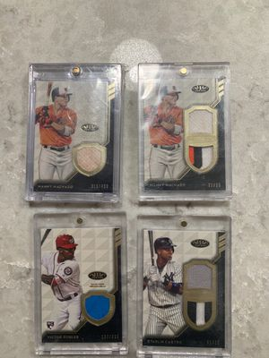 Baseball card relics!! Game used!! 4 card lot for Sale in Oxnard, CA