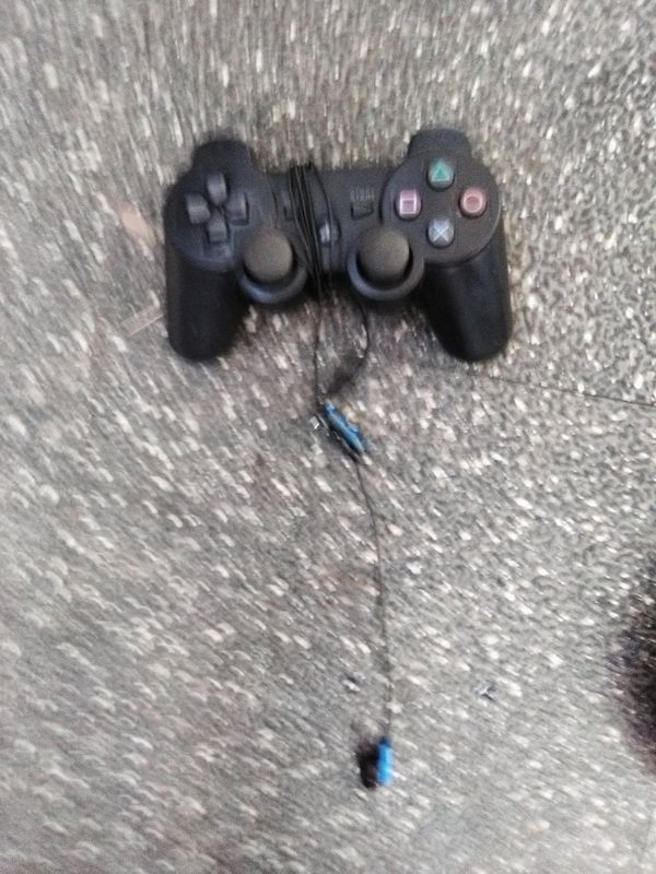 PlayStation shock controller with ear piece & Game Headphones