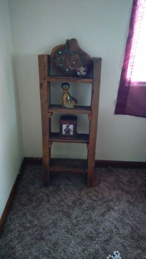 4 tier ladder shelf made from barn wood very heavy for Sale in Kansas City, MO
