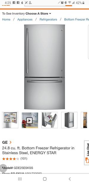 Stainless steel refrigerator for Sale in Aurora, IL