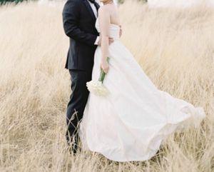AMSALE Ivory taffeta A-line strapless wedding dress size 6 for Sale in Issaquah, WA