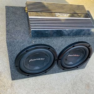 $200 No Less /no Menos ) Pioneer 10s / Big Power Teknique amp / New Sub Box for Sale in Sanger, CA
