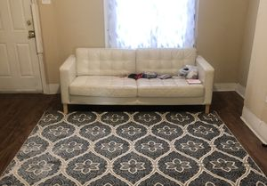 white leather couch for Sale in Yeadon, PA