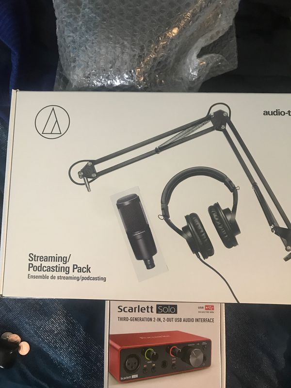Audio-Technica w/ Pop Filter and Scarlett Solo w/ Pro Tools included