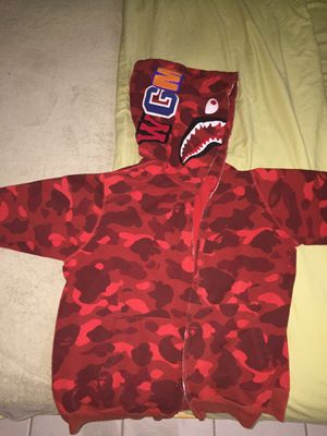 BAPE RED CAMO HOODIE AUTHENTIC for Sale in Miami, FL