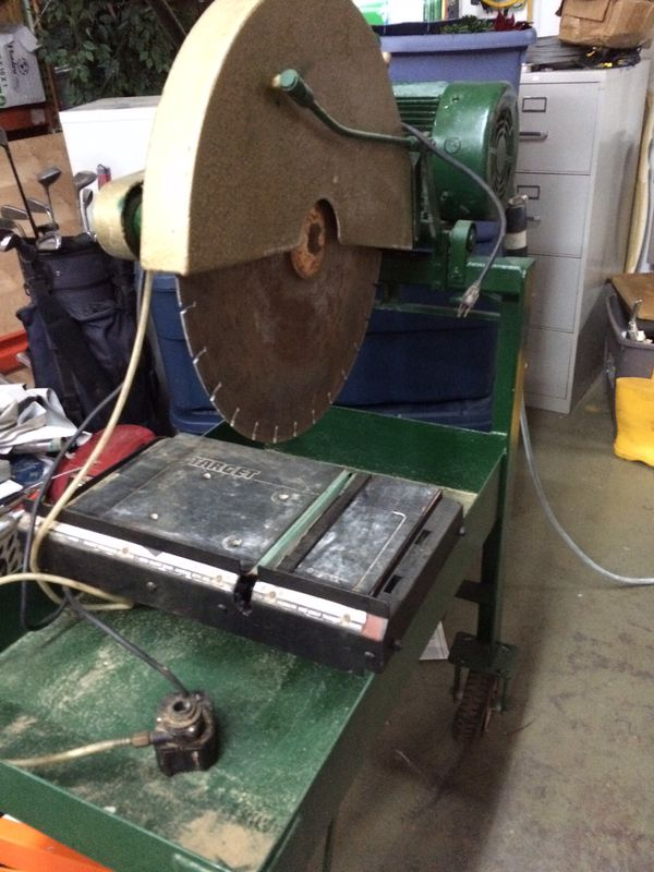 """22"""" commercial Target stone/concrete table saw"""