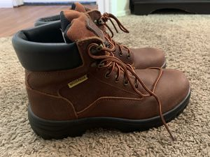 Men's Steel Toe Work Zone Boots (never worn) size 8 for Sale in San Marcos, CA