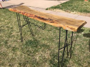 Live Edge Console Table with wine rack for Sale in Denver, CO