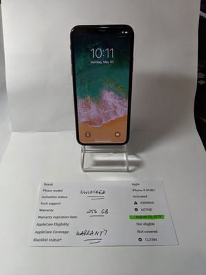 Apple IPhone X 256gb Unlocked Mint! for Sale in Tampa, FL