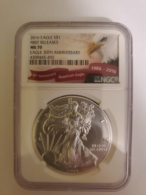 2016 Eagle $1 First Releases MS 70 for Sale in Potter, KS