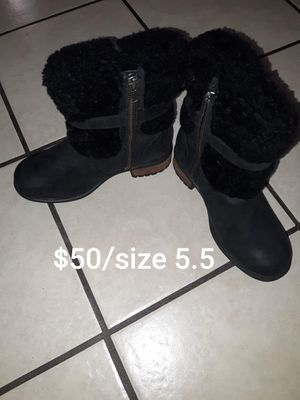 Uggs black boots $50 for Sale in Los Angeles, CA