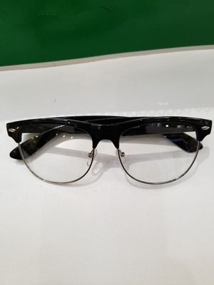 512c402c6a Fashion Half Frame CLEAR LENS GLASSES Black Silver Color Vintage Style Retro  v for Sale in