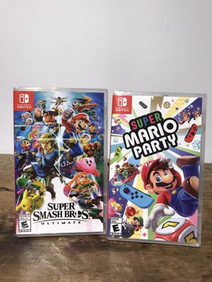 Nintendo Switch Games! Mario Party and Super Smash Bros Ultimate 🎮❄️🕹 for Sale in Pacheco, CA