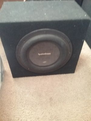 P3s 10 inch Rockford fosgate subwoofer and box for Sale in Renton, WA
