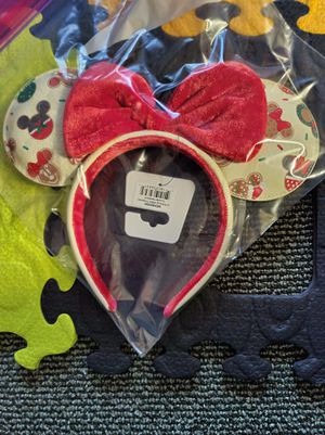 Loungefly Disney Mickey and Minnie Mouse Holiday Cookie Ears Headband for Sale in San Diego, CA