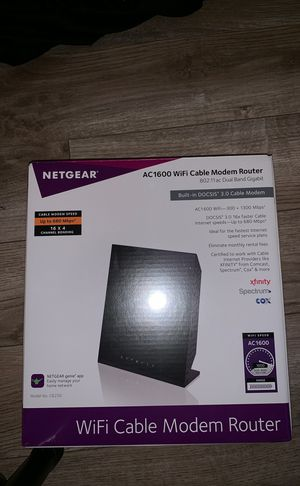 Netgear ac1600 WiFi cable modem router for Sale in Riverside, CA