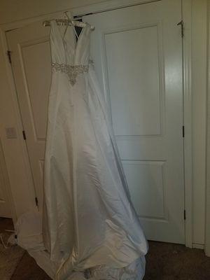 New Wedding Dress Ivory & Gold Trim for Sale in Phoenix, AZ