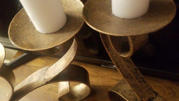 Gorgeous Metal Candle Holder Set