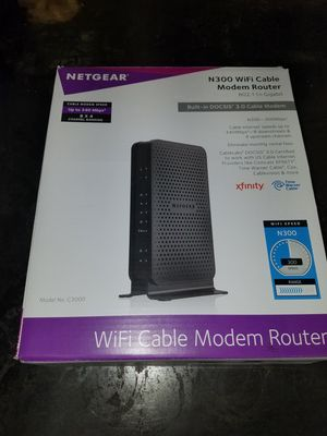 NETGEAR C3000-100NAS N300 (8x4) WiFi DOCSIS 3.0 Cable Modem Router for Sale in Vancouver, WA