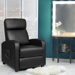 Massage Recliner Chair Single Sofa PU Leather Padded Seat w/ Footrest Black for Sale in Austin,  TX