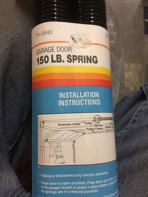 Garage door spring set 150 lbs. new for Sale in Rutledge, PA