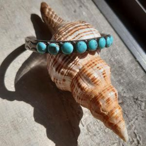 Native American Thin Turquoise Silver Bracelet for Sale in Queens, NY