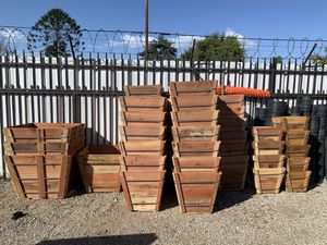 Wood planters for plants and trees for sale for Sale in Los Angeles, CA