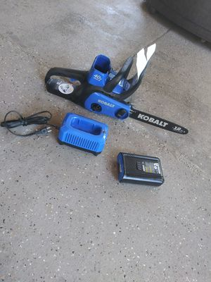 Kobalt 40 volt chainsaw for Sale in Lake Elsinore, CA