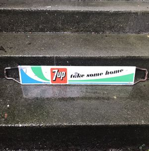 Antique 7up Door Push Sign for Sale in Seattle, WA