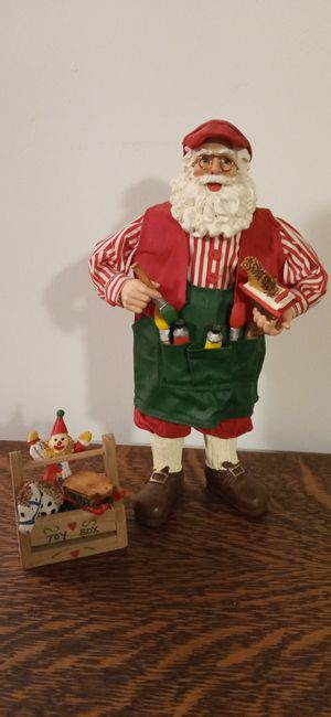 """Santa and toy box statue 11"""" tall for Sale in Seattle, WA"""