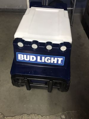 NFL bud light cooler w/ Bluetooth rechargeable speaker for Sale in Paradise, NV