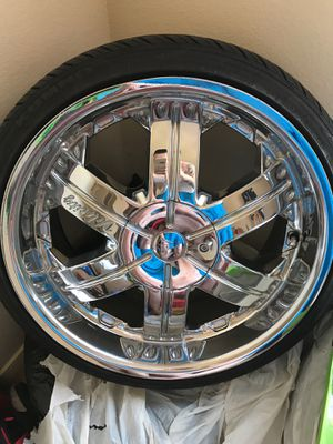 Brand new rims and tires size 18 for Sale in Santa Fe, NM