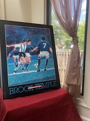 Brook Temple Soccer Poster Print Editions Limited, Susanna Anderson-Carey for Sale in Germantown, MD