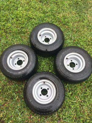 Set of (4) Golf cart rims & good tires for Sale in Margate, FL