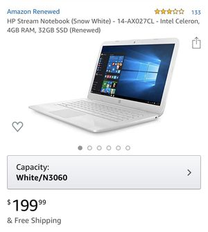 Hp stream notebook for Sale in Whittier, CA